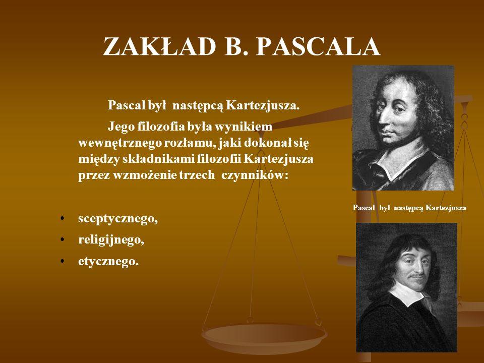 Pascal był następcą Kartezjusza