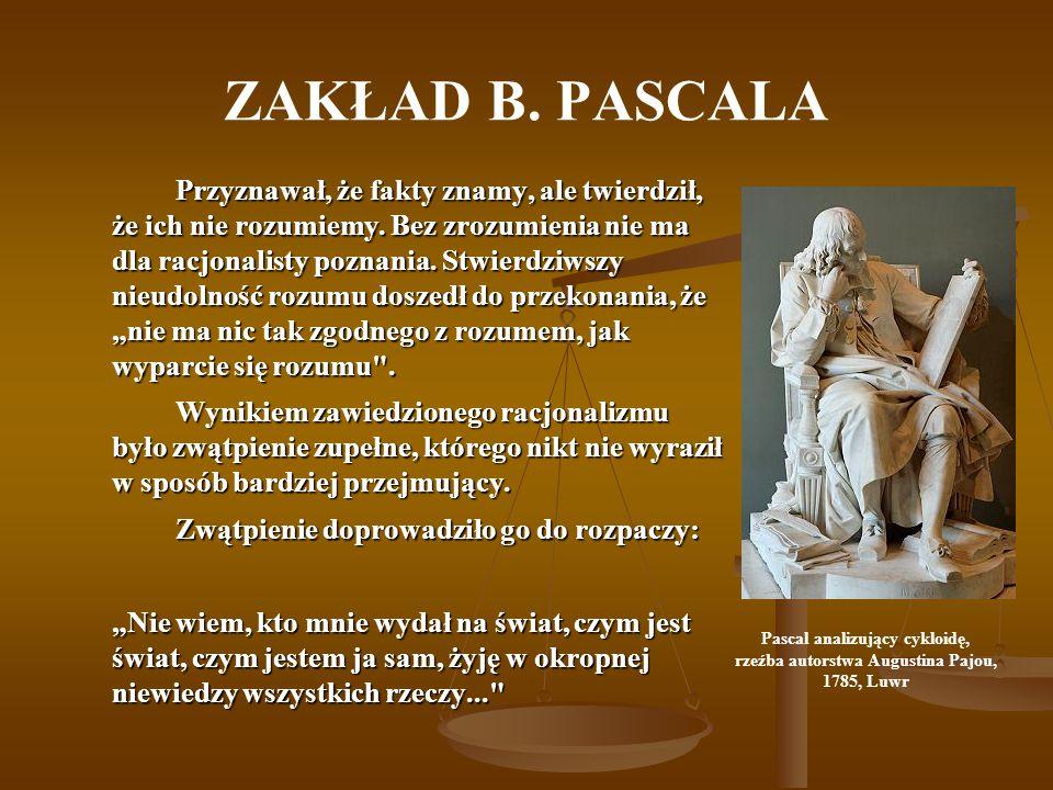 Pascal analizujący cykloidę, rzeźba autorstwa Augustina Pajou,