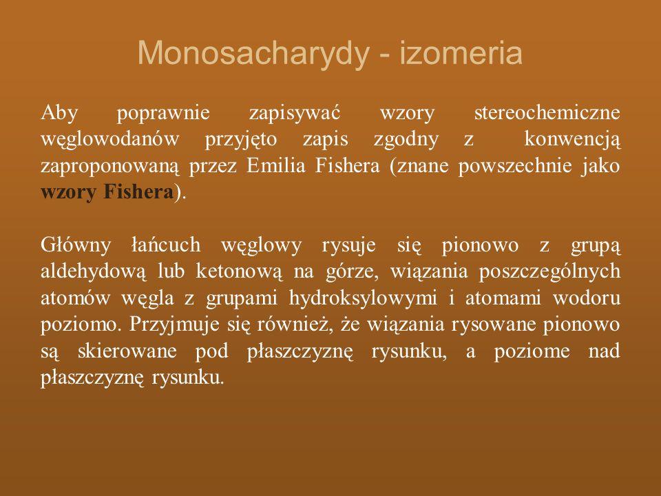 Monosacharydy - izomeria
