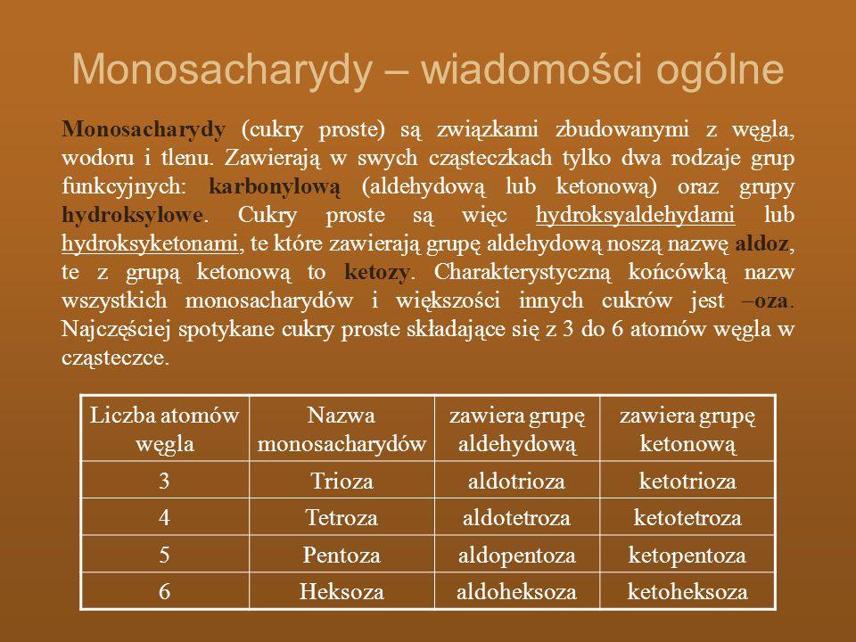 Monosacharydy – wiadomości ogólne