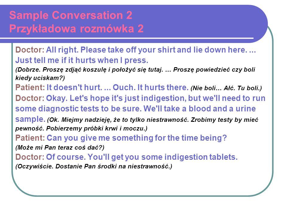 Sample Conversation 2 Przykładowa rozmówka 2