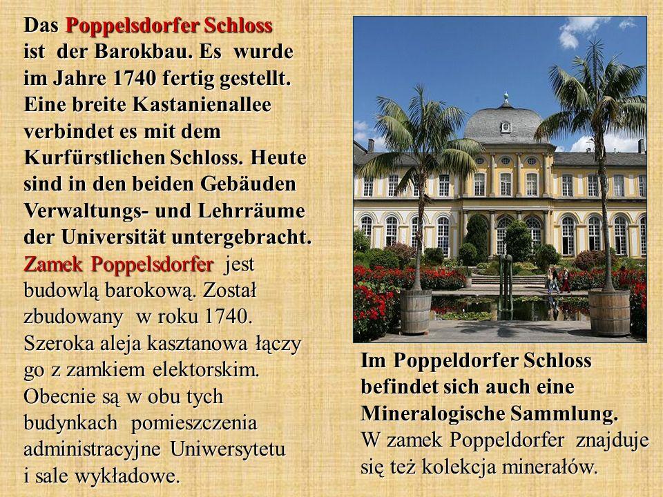 Das Poppelsdorfer Schloss ist der Barokbau