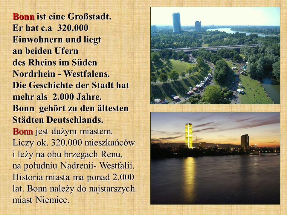 Bonn ist eine Großstadt. Er hat c. a 320