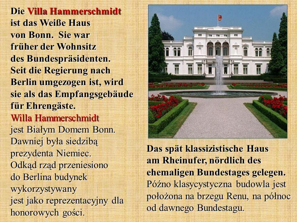 Die Villa Hammerschmidt ist das Weiße Haus von Bonn