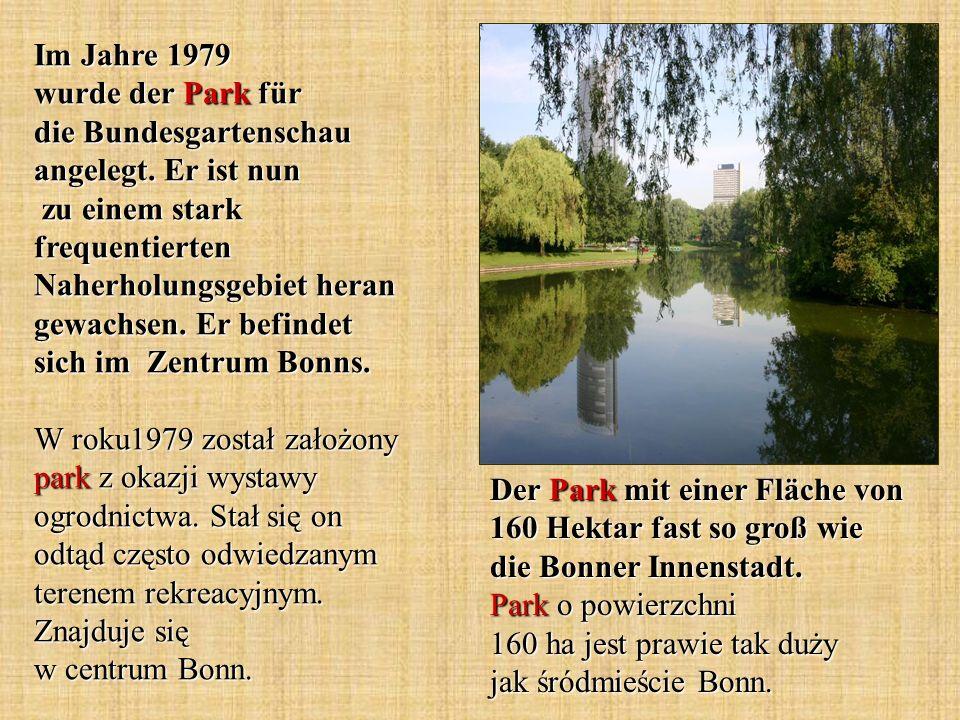 Im Jahre 1979 wurde der Park für die Bundesgartenschau angelegt