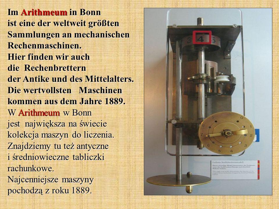 Im Arithmeum in Bonn ist eine der weltweit größten Sammlungen an mechanischen Rechenmaschinen.