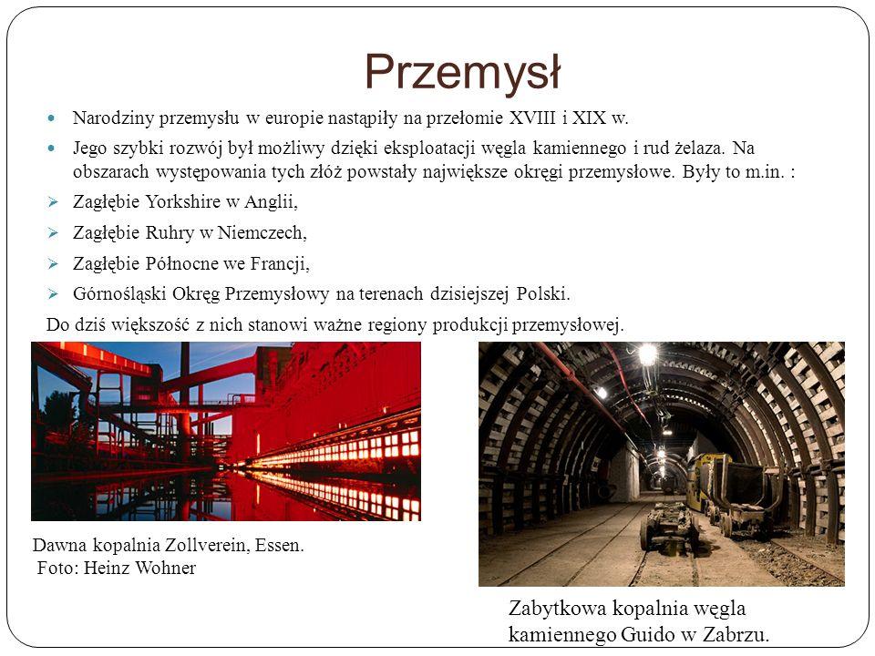 Przemysł Zabytkowa kopalnia węgla kamiennego Guido w Zabrzu.