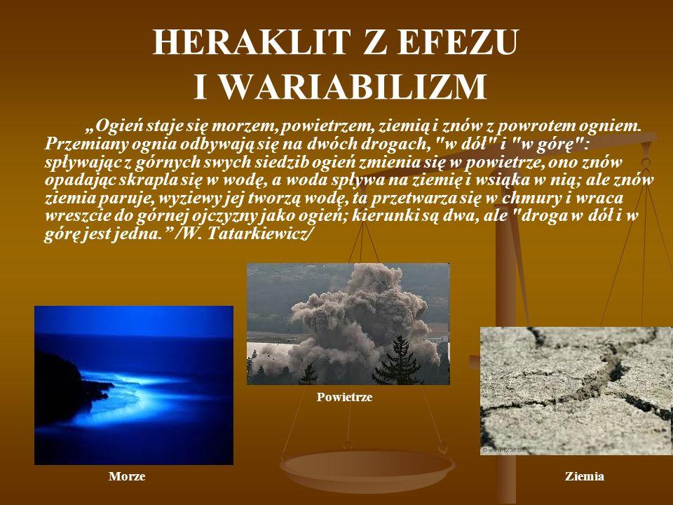 HERAKLIT Z EFEZU I WARIABILIZM