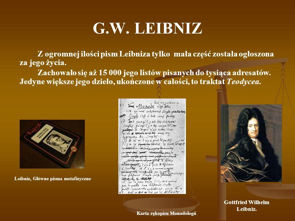 Gottfried Wilhelm Leibniz. Karta rękopisu Monadologii