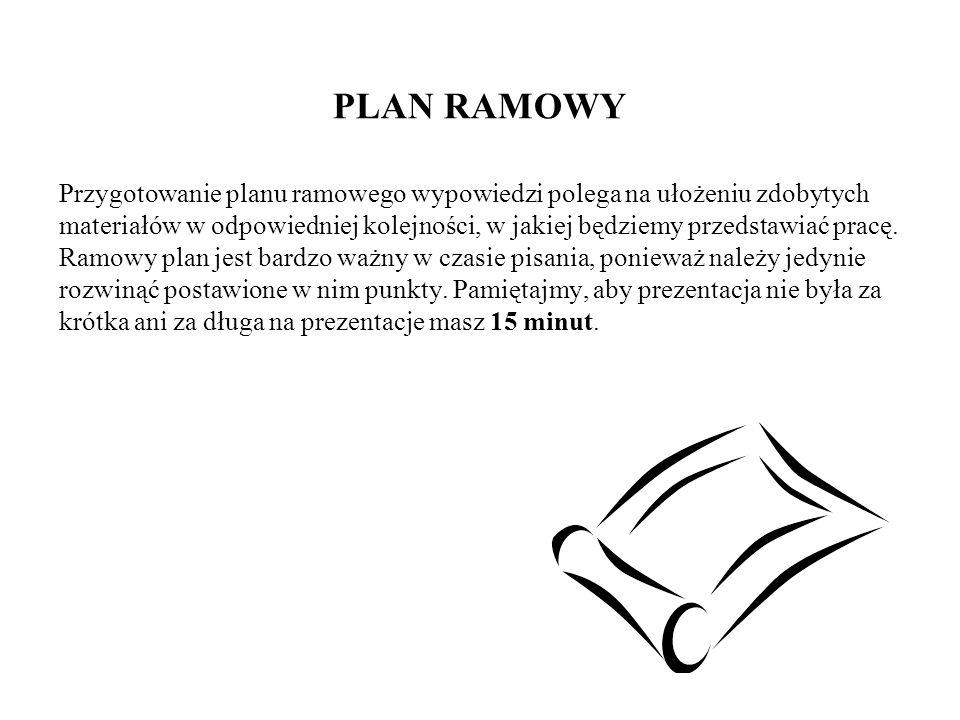 PLAN RAMOWY