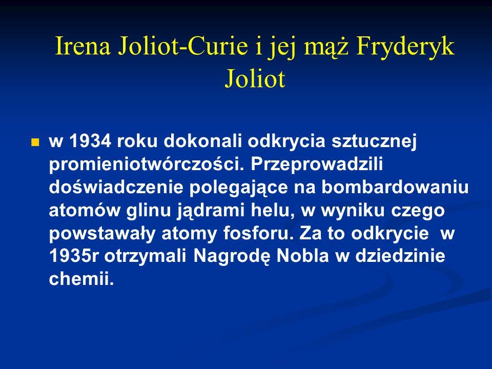Irena Joliot-Curie i jej mąż Fryderyk Joliot
