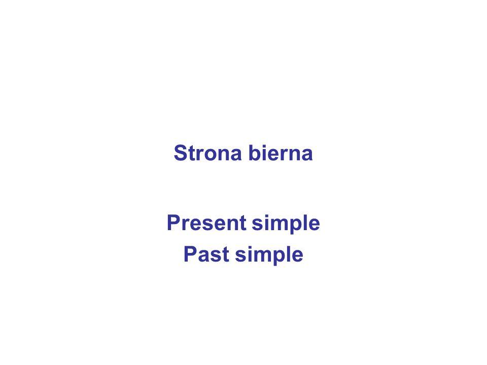 Present simple Past simple
