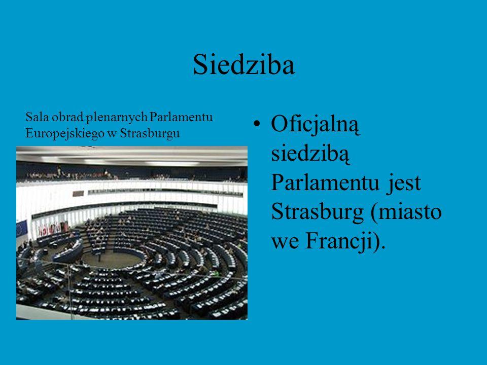 Siedziba Sala obrad plenarnych Parlamentu Europejskiego w Strasburgu.