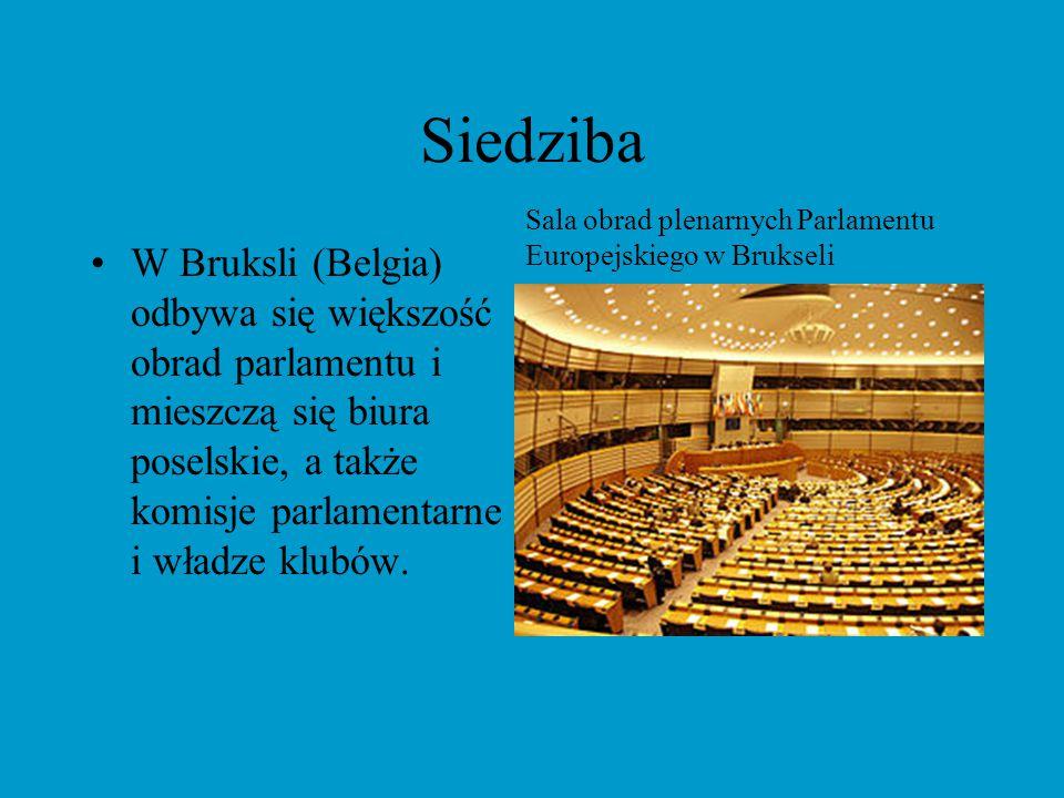 Siedziba Sala obrad plenarnych Parlamentu Europejskiego w Brukseli.