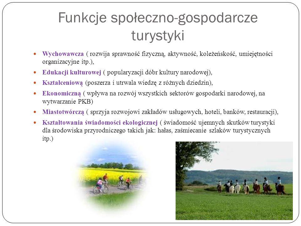 Funkcje społeczno-gospodarcze turystyki