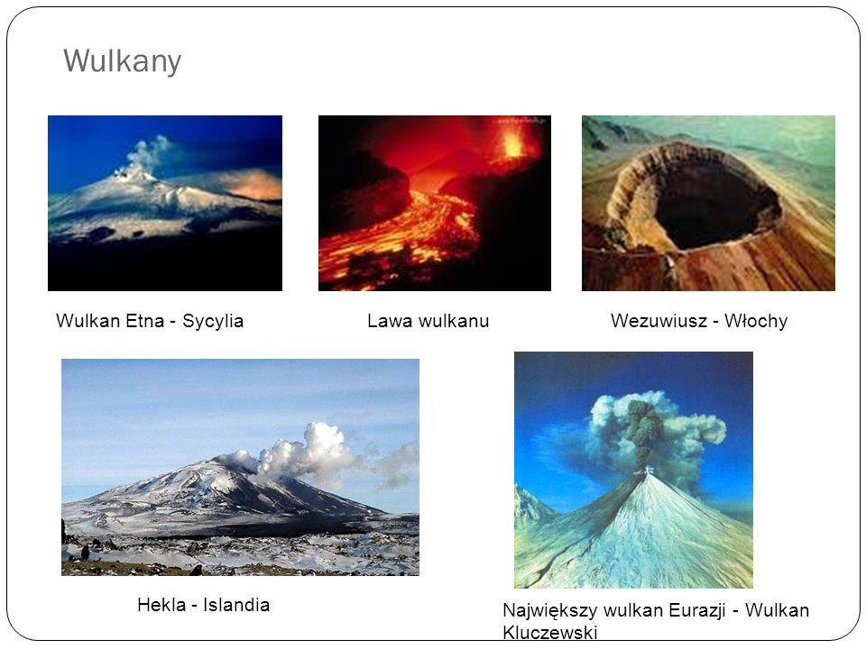 Wulkany Wulkan Etna - Sycylia Lawa wulkanu Wezuwiusz - Włochy