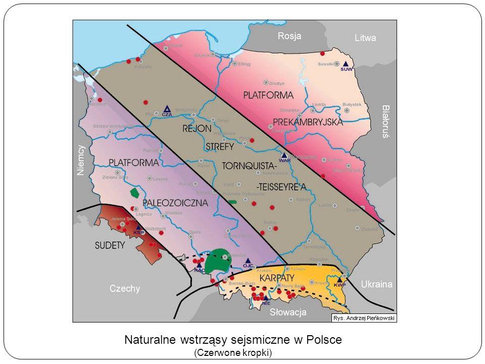 Naturalne wstrząsy sejsmiczne w Polsce