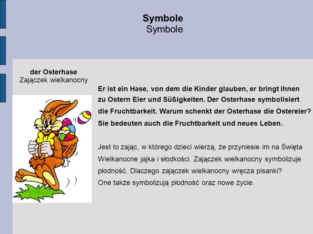 Symbole der Osterhase Zajączek wielkanocny