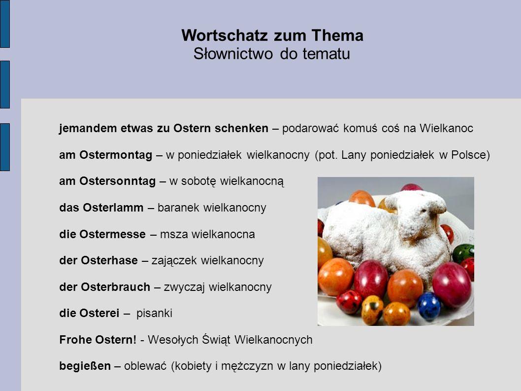 Wortschatz zum Thema Słownictwo do tematu