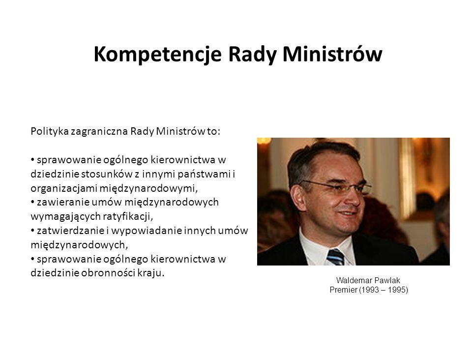 Kompetencje Rady Ministrów
