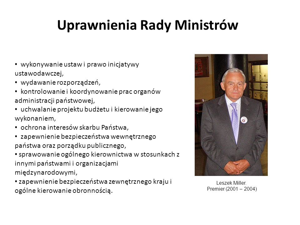 Uprawnienia Rady Ministrów
