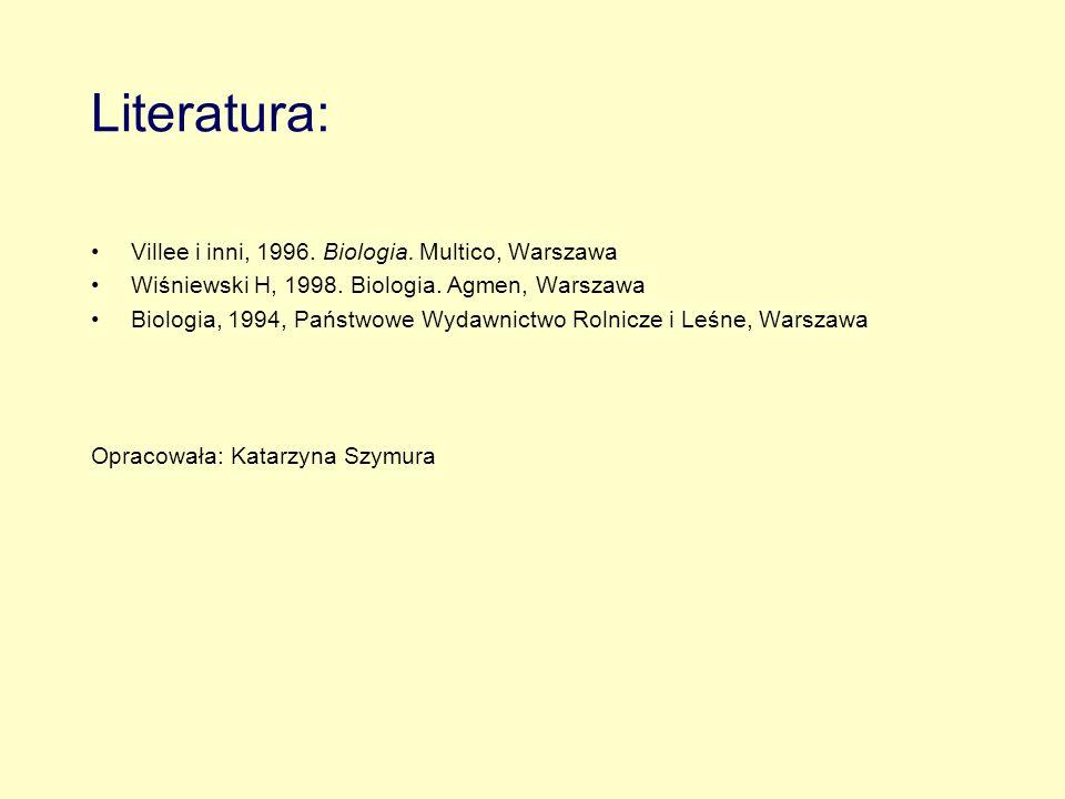 Literatura: Villee i inni, 1996. Biologia. Multico, Warszawa