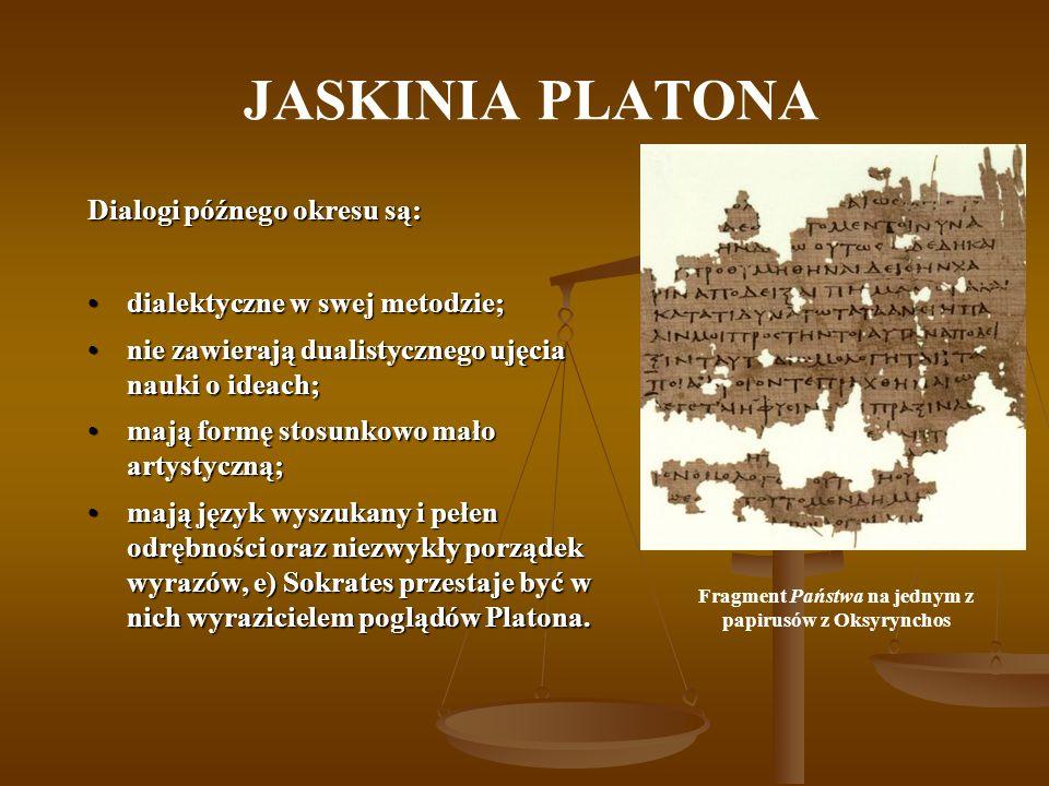 Fragment Państwa na jednym z papirusów z Oksyrynchos