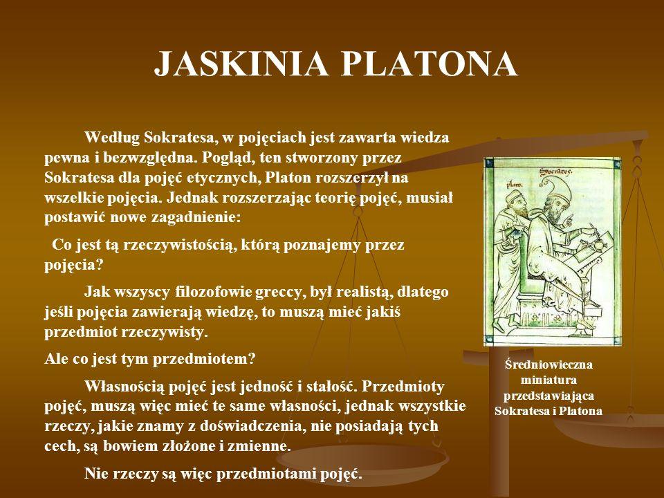 Średniowieczna miniatura przedstawiająca Sokratesa i Platona