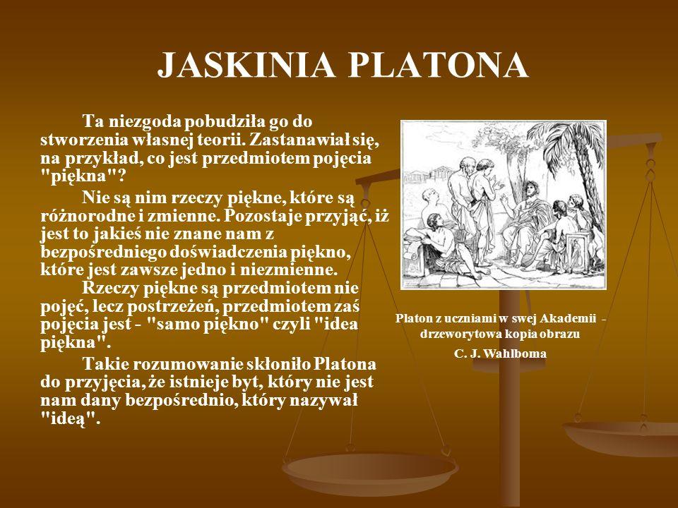 Platon z uczniami w swej Akademii - drzeworytowa kopia obrazu