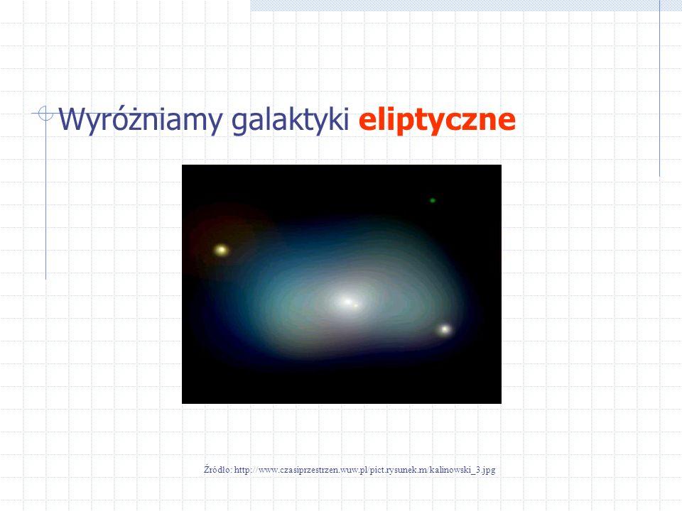 Wyróżniamy galaktyki eliptyczne