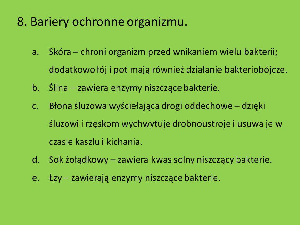 8. Bariery ochronne organizmu.