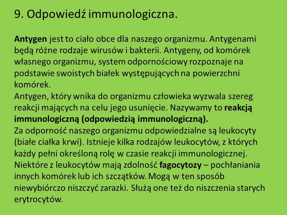 9. Odpowiedź immunologiczna.