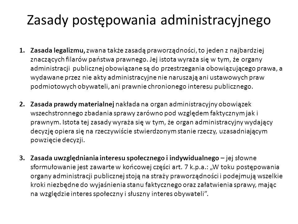 Zasady postępowania administracyjnego