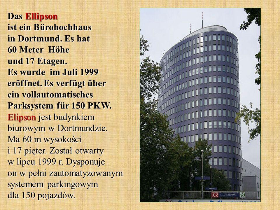 Das Ellipson ist ein Bürohochhaus in Dortmund