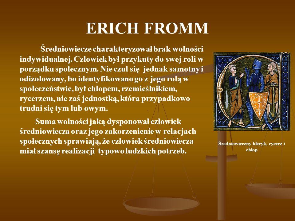 Średniowieczny kleryk, rycerz i chłop