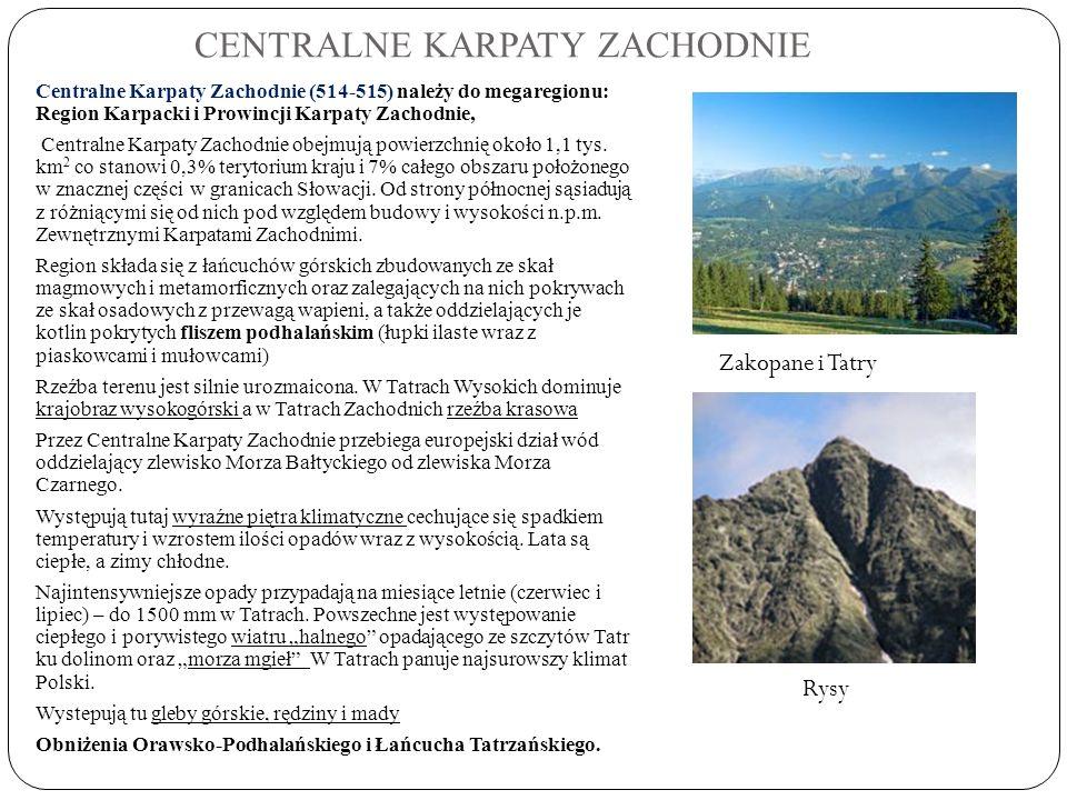 CENTRALNE KARPATY ZACHODNIE