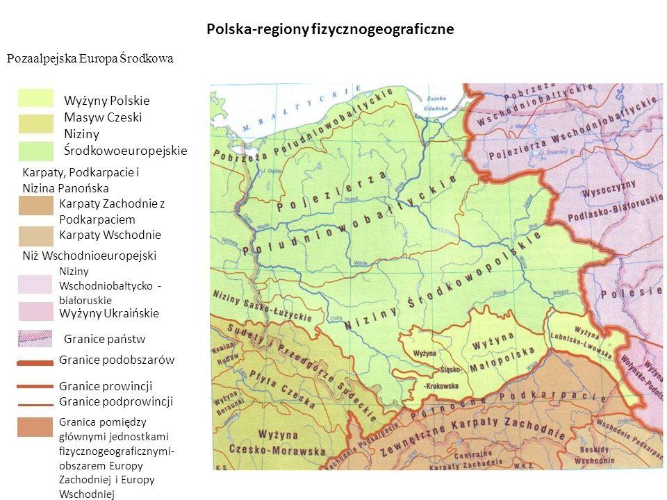 Polska-regiony fizycznogeograficzne