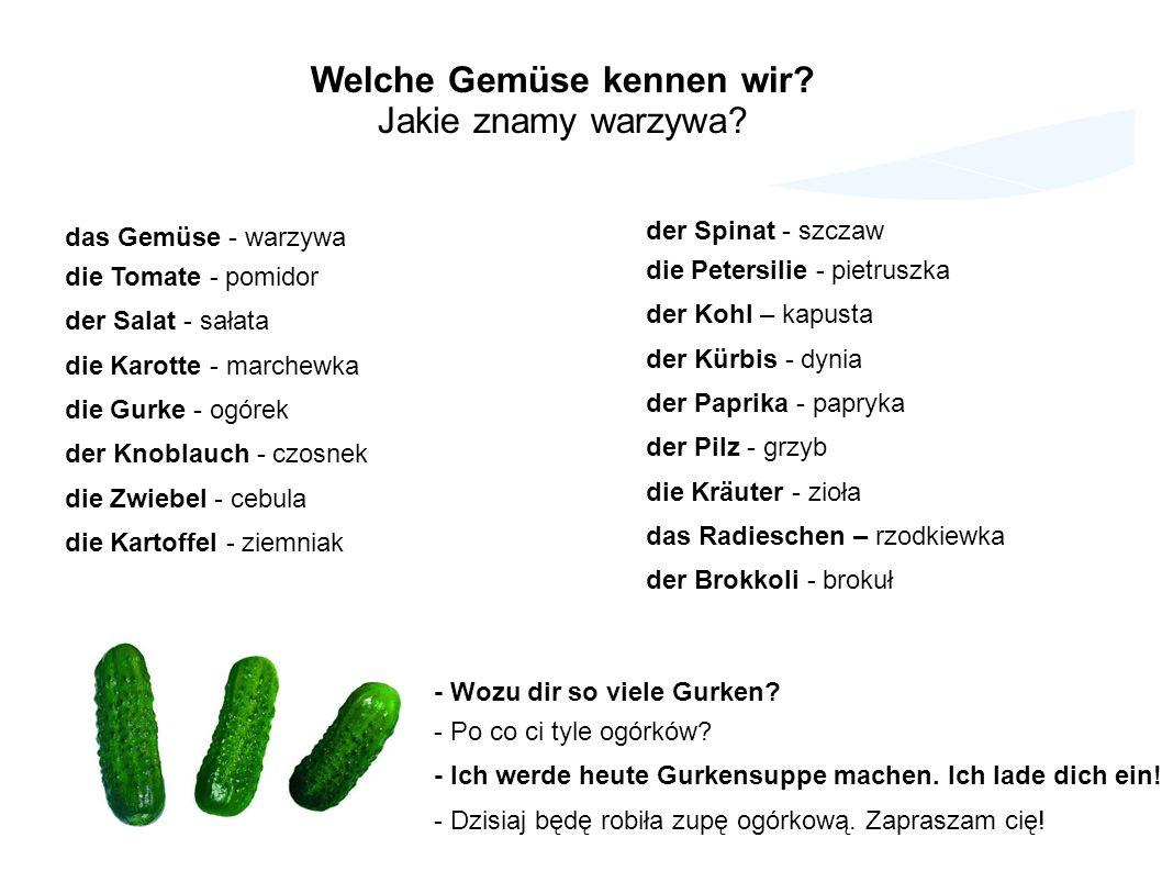 Welche Gemüse kennen wir