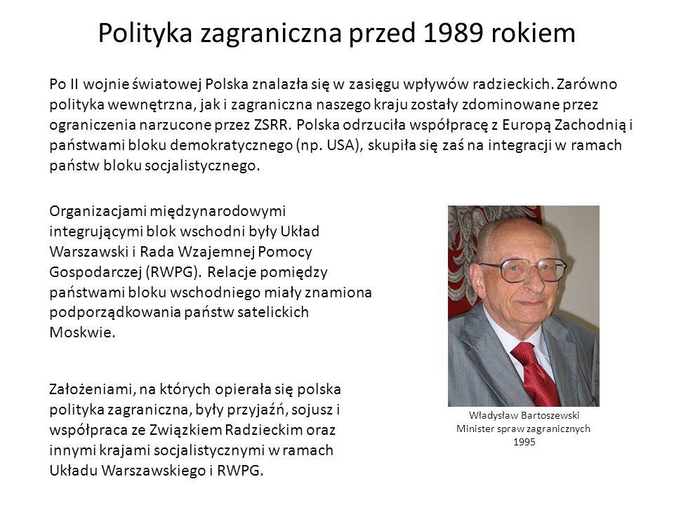 Polityka zagraniczna przed 1989 rokiem