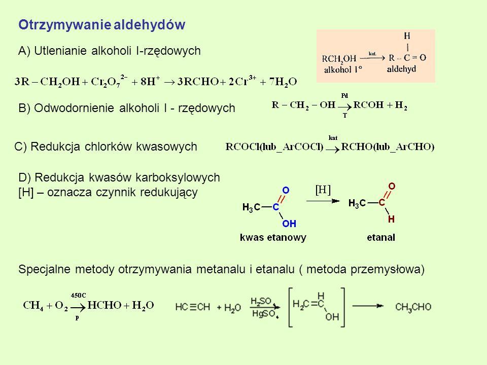 Otrzymywanie aldehydów
