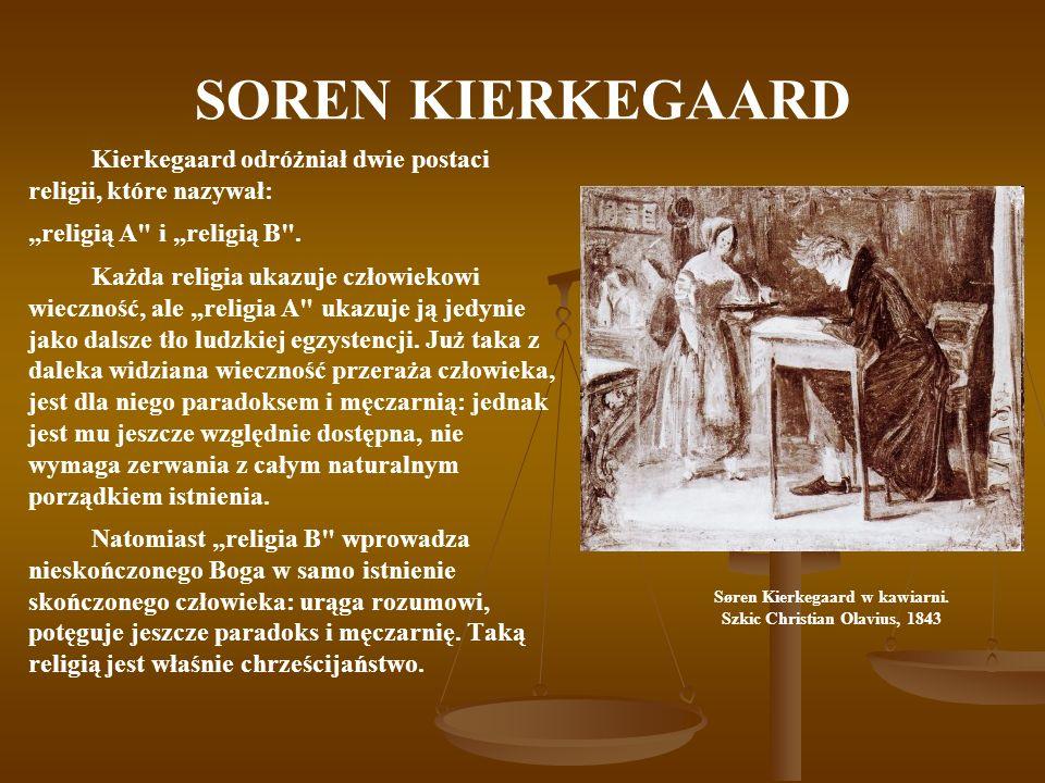 Søren Kierkegaard w kawiarni.