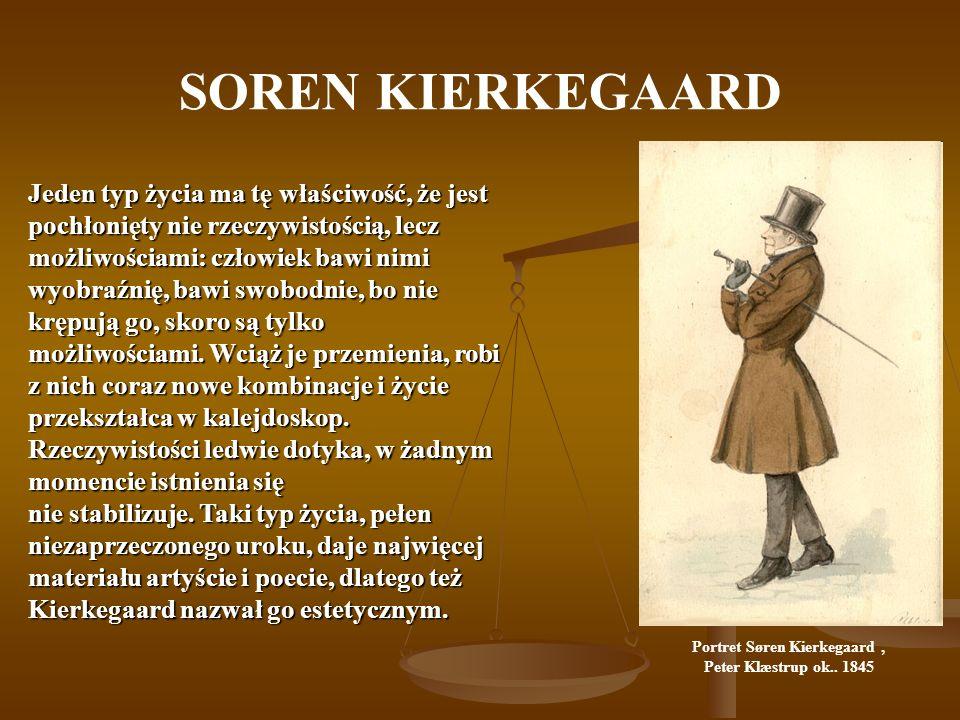Portret Søren Kierkegaard ,