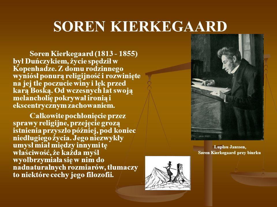 Søren Kierkegaard przy biurku