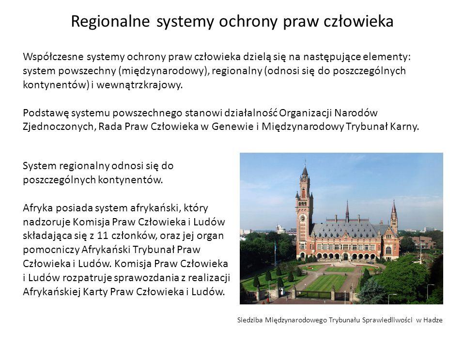 Regionalne systemy ochrony praw człowieka