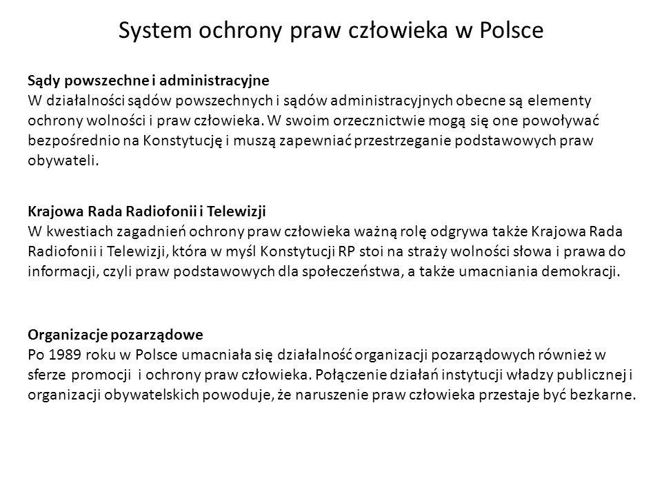System ochrony praw człowieka w Polsce
