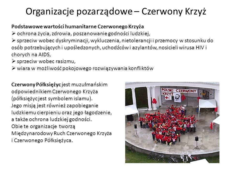 Organizacje pozarządowe – Czerwony Krzyż