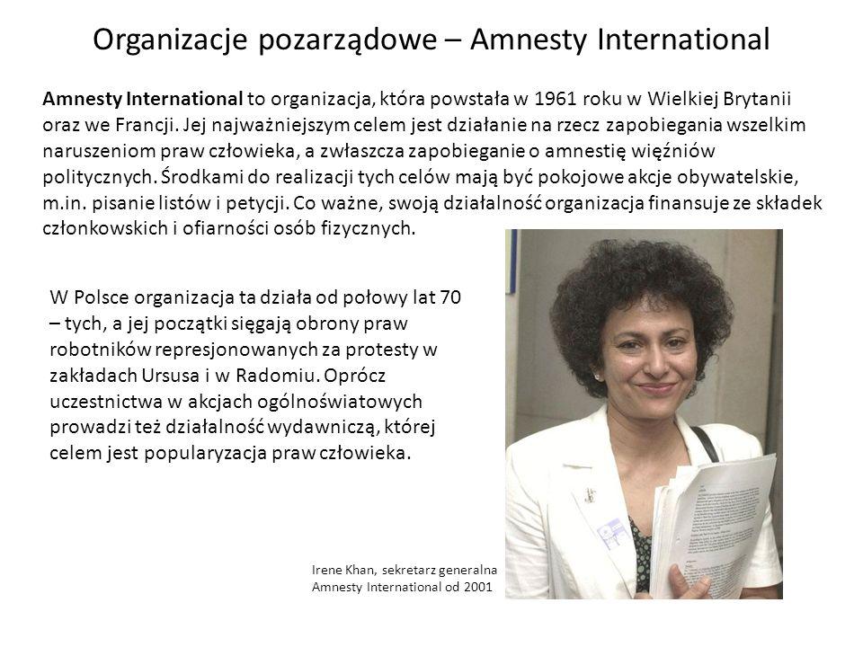 Organizacje pozarządowe – Amnesty International