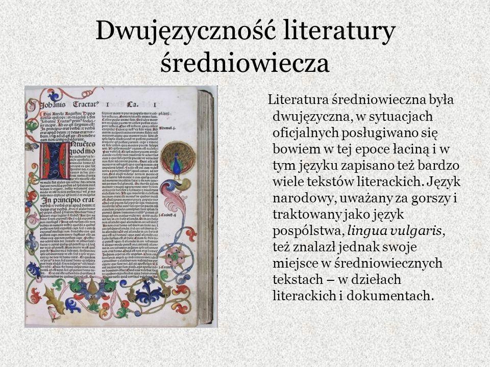Dwujęzyczność literatury średniowiecza