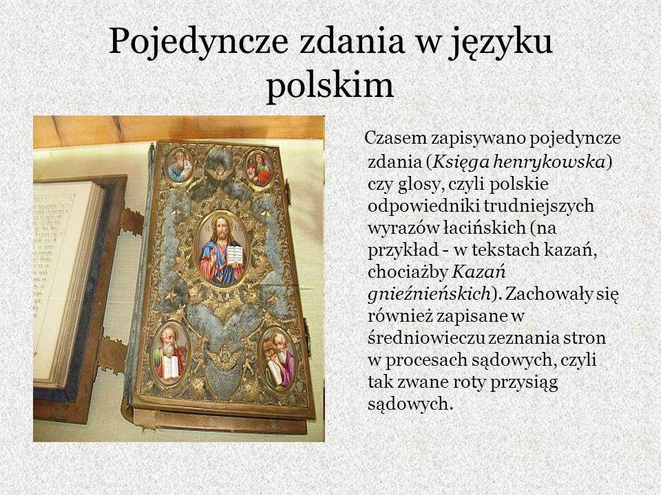 Pojedyncze zdania w języku polskim