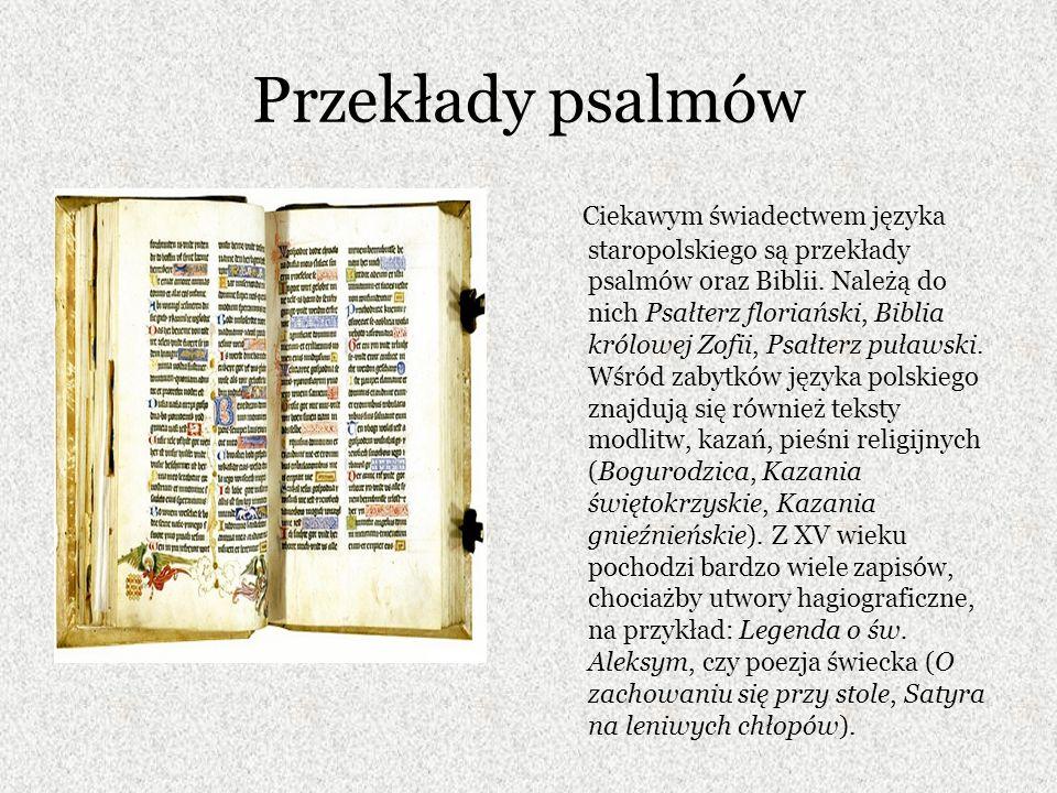 Przekłady psalmów